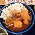 48604696 - 串かつ屋さんのカツカレー定食(680円)