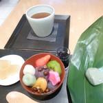 48605081 - 甘味三種とお茶