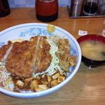 ランラン - BIG丼とんかつ唐揚げ