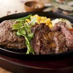 ハンバーグ&ステーキ食堂 KURAUZO - ハンバーグ&ステーキコンボ