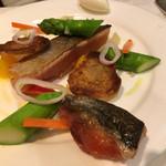 北島亭 - 鮭のマリネ。肉厚でネットリカリカリ!