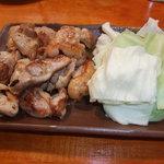 オカヤ食堂 - 若モモ焼鳥です。