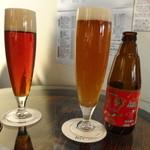 デギュスタ - まずはおススメのクラフトビール「ベアレン アルト」と「麦雫アップル」を