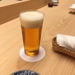 銀座 鮨青木 - 生ビーる