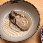 ginzasushiaoki - 牡蠣の酒蒸し