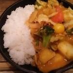 野菜を食べるカレー camp - インド辛口