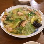 広東料理 鳳泉 - 撈麺(エビカシワソバ)
