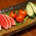 ♪季節の野菜の自家製有機糠床漬け