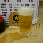 全国銘酒 たる松 本店 - 2016.03 生ビール(450円)でスタート