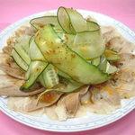 勝来軒 - 料理写真:うす切り豚肉ガーリック辛子ソース