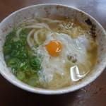 淡路屋 - 月見うどん300円(税込)