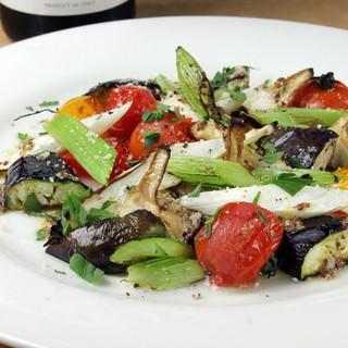 旬野菜の窯焼き