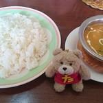 ボンベイパレスレストラン  - 料理写真:本日のおすすめセット 750円♪ 日替り(ベジチキン)とライス♪