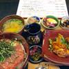美食酒家 旬彩 - 料理写真:ネギトロ丼御膳。ネギトロ丼の他に、鶏唐揚げの甘酢あんかけ、おばんざい3点、お味噌汁が付く。おなかいっぱい。