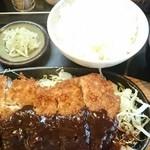 48634213 - 黒豚モモ味噌カツ定食♪(日替り)