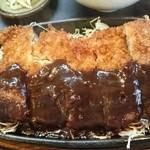 48634214 - 黒豚モモ味噌カツ定食♪(日替り)