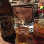 48634499 - 瓶ビール650円とウーロン茶200円