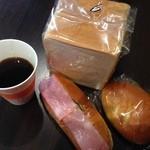 ベーカリーメルシー - ランパスセット(通常700円→ランパスvol.5提示で500円) ●食パン・調理パン・コーヒー