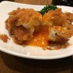 カツ男爵 - 温泉玉子の肉巻きカツ