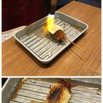 カツ男爵 - 炙りチーズ豚ヒレ串カツ