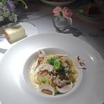 48642085 - 鶏肉と菜の花のスパゲッティ