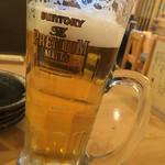 牛タン炭焼 仁 - 生ビール600円