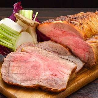ブランド肉を使用した自家製の熟成肉