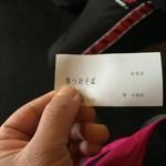 池谷精肉店 - 食券。