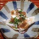 日本料理くりた - 2016年3月某日 鯛中落ちと頬肉の大蒜風味ポン酢