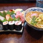 あびる寿司 - すし定食大 温うどん付き
