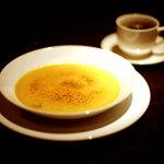 なっぱSUN - かぼちゃのクレームブリュレ(大きなお皿でつくりました。ざくざくとろーり)