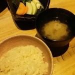 48660890 - 鯛めし&お味噌汁&お漬物♪
