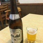 ラーメンの三平 - ドリンク写真:餃子にはビール