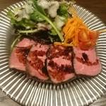 タマミンサーティーン - 牛肉 サラダ添え