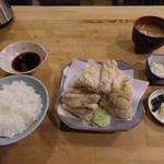 日本橋 鳥文 - 【ランチ】 ポン酢唐揚定食 \850