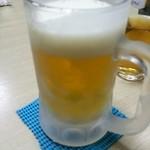 極屋 - 生ビール(チョイ少ないやん) 500円
