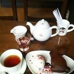 48682627 - 1コインランチ弘前vol.4本利用 日替わりケーキ&紅茶