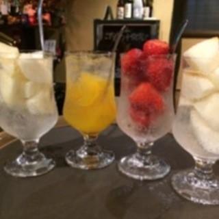 季節のフルーツ丸ごと食べるサワー&ノンアルコール
