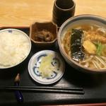 三條尾張屋 - お昼の天ぷらうどんセット