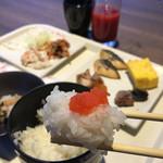 くわとろ - 朝食バイキングで辛子明太子 2016/3/14