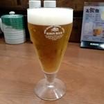 福てんかつ - グラスビール