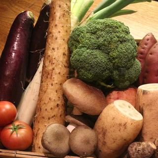 季節のお野菜を。