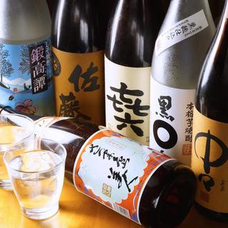 九州の焼酎・地酒が豊富!!