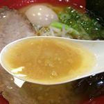 48701283 - 濃厚醤油ラーメン スープアップ