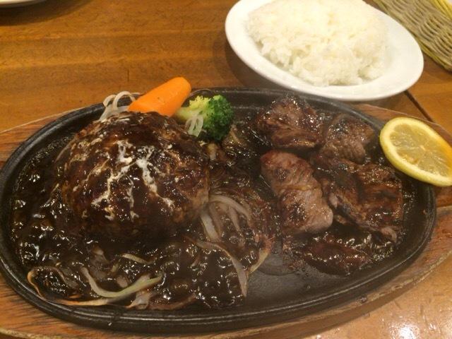 からだ想いの肉ダイニング鉄重 - スライスステーキ+ハンバーグコンビセット