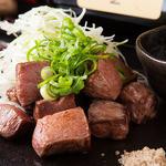 鉄板焼 曉 - 厚切り牛タンステーキ