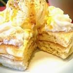 48707302 - マンゴー&キャラメルソースパンケーキ