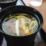 ヤマバレ牧場 ポーザーおばさんの食卓 - ミニ八重山ソバが付きます