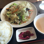 藤乃屋 - 野菜炒め定食(780円)★★★☆☆