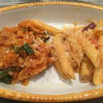 一汁三菜イタリア~の - リゾットボロニア風+ペンネ